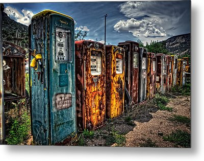 Metal Print featuring the photograph Gasoline Alley by Ken Smith
