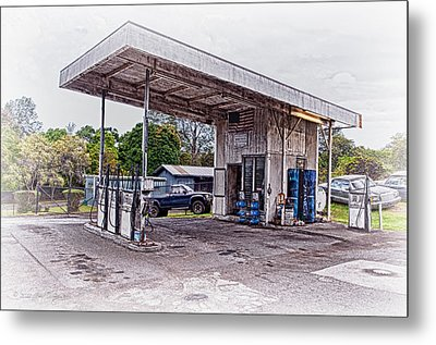Metal Print featuring the photograph Gasoline Station by Jim Thompson