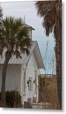 Metal Print featuring the photograph Gasparilla Island State Park Chapel by Ed Gleichman