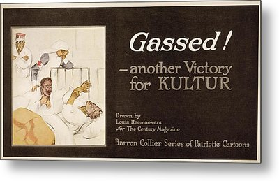 Gassed! World War I Cartoon Metal Print by Library Of Congress