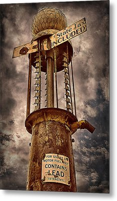 Gassing Up In Jerome Metal Print by Priscilla Burgers