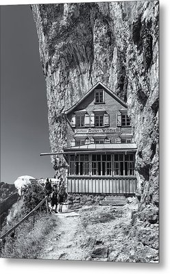 Gasthaus Aescheron Ebenalp Metal Print