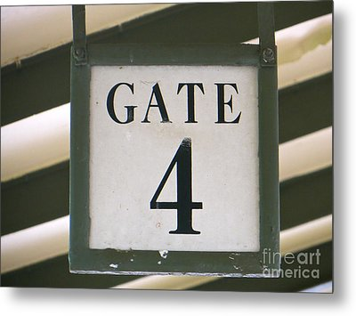 Metal Print featuring the photograph Gate #4 by Joy Hardee