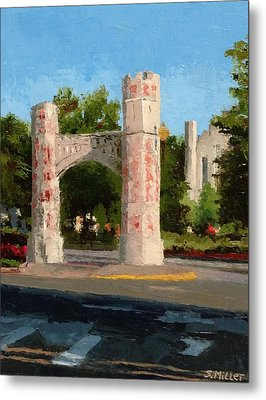 Gate On Parrington Oval At Ou Metal Print