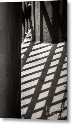 Gate Shadows II Metal Print
