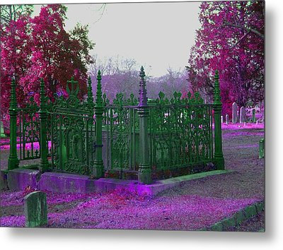 Metal Print featuring the photograph Gated Tomb by Cleaster Cotton