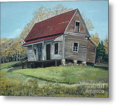 Gates Chapel - Ellijay Ga - Old Homestead Metal Print