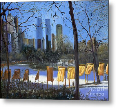 Gates Of New York Metal Print by Marlene Book