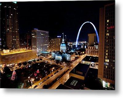 Gateway Arch St Louis Night Metal Print