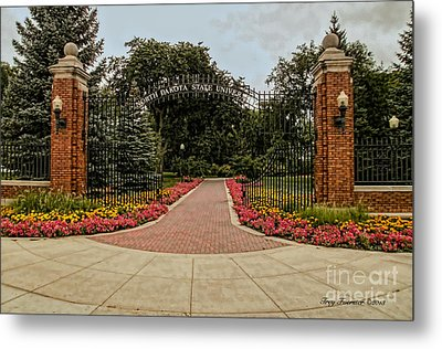 Metal Print featuring the photograph Gateway To Ndsu by Trey Foerster