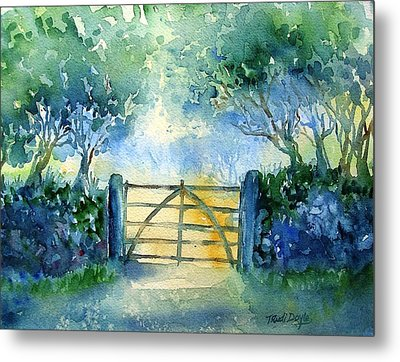 Gateway To The Harvest Field  Metal Print by Trudi Doyle
