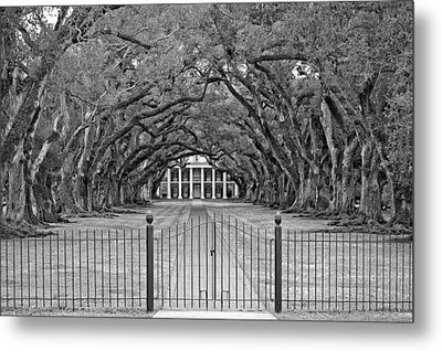 Gateway To The Old South Monochrome Metal Print by Steve Harrington