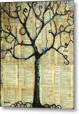 Gathering Place Winter Tree Metal Print by Blenda Studio