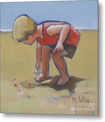 Gathering Shells Metal Print by Mary Hubley