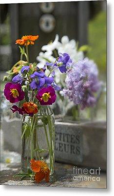 Gathering Wildflowers Metal Print by Edward Fielding