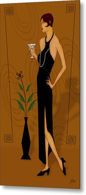Gatsby Girl Metal Print by Troy Brown