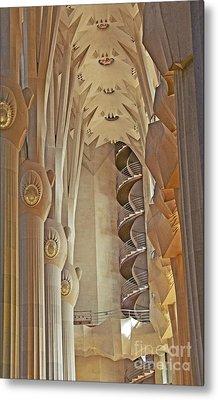Gaudi's Spiral Stairs Metal Print