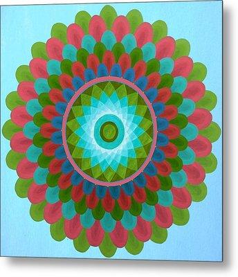Gaudy Mandala Metal Print by Vlatka Kelc