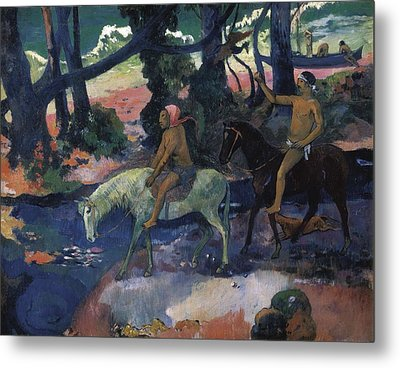 Gauguin, Paul 1848-1903. Ford Running Metal Print by Everett