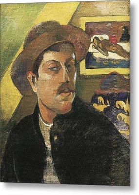 Gauguin, Paul 1848-1903. Self Portrait Metal Print
