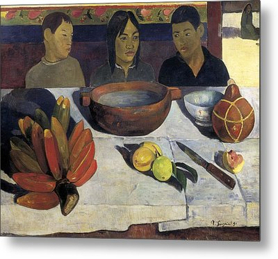 Gauguin, Paul 1848-1903. The Meal  Or Metal Print by Everett