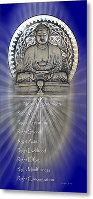 Gautama Buddha - The Noble Eightfold Path Metal Print