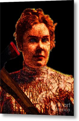 Gave Her Father Forty Whacks - Black Metal Print by Wingsdomain Art and Photography