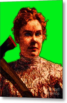 Gave Her Father Forty Whacks - Green Metal Print by Wingsdomain Art and Photography
