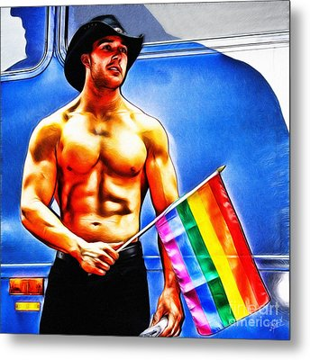 Gay Pride Metal Print