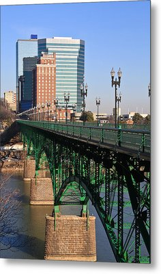 Gay Street Bridge Knoxville Metal Print by Melinda Fawver