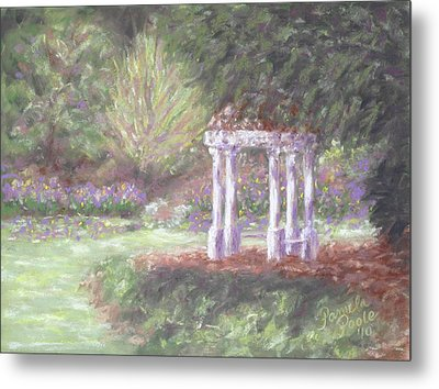 Gazebo At Hopelands In Spring Metal Print