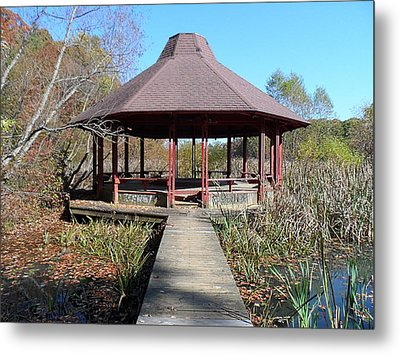 Gazebo Metal Print by Philomena Zito
