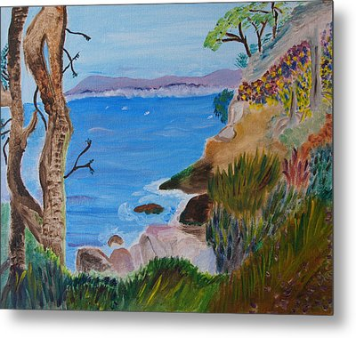 Gazing Out To Sea Metal Print
