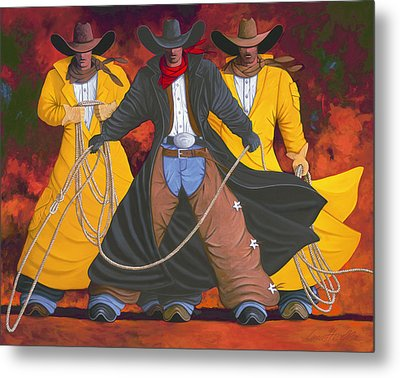 Metal Print featuring the painting Good Bad And Ugly by Lance Headlee