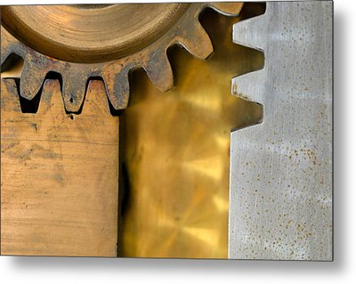 Gear Abstract Metal Print