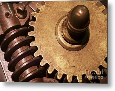 Gear Wheels Metal Print by Carlos Caetano