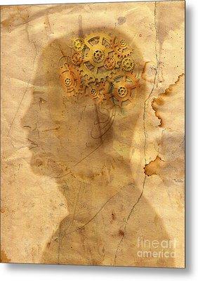 Gears In The Head Metal Print by Michal Boubin