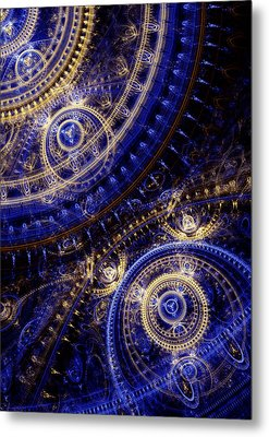 Gears Of Time Metal Print by Martin Capek