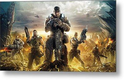 Gears Of War Artwork Metal Print by Sheraz A