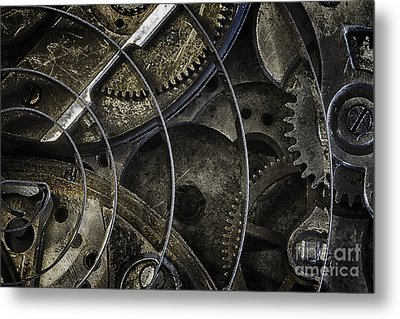 Metal Print featuring the photograph Gears by Vicki DeVico