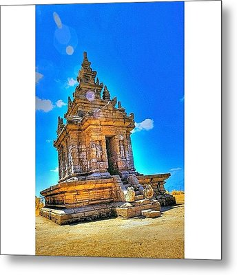Gedong Songo (indonesian: Candi Gedong Metal Print by Tommy Tjahjono