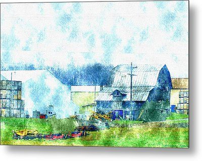 Gee Farm Orchard Barns And Outbuildings   Metal Print by Rosemarie E Seppala