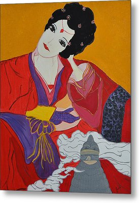 Geisha 2 Metal Print by Judi Goodwin