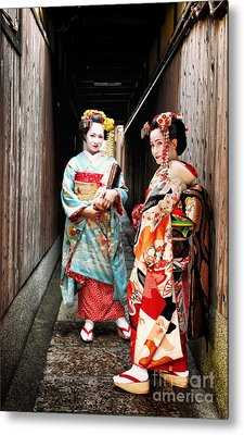 Metal Print featuring the photograph Geisha Alley by John Swartz