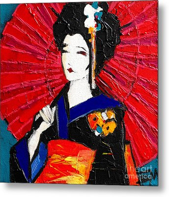Geisha Metal Print by Mona Edulesco