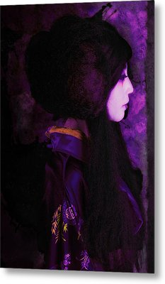Geisha In Purple And Pink Metal Print by Jeff Burgess