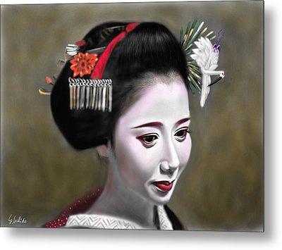 Geisha No.145 Metal Print by Yoshiyuki Uchida