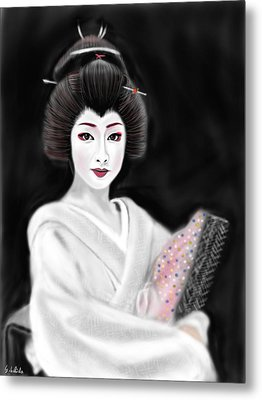 Geisha No.155 Metal Print by Yoshiyuki Uchida