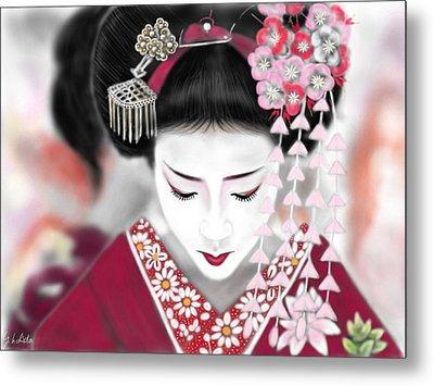 Geisha No.185 Metal Print