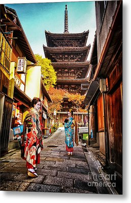Metal Print featuring the photograph Geisha Temple by John Swartz